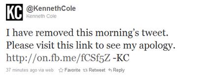 Kenneth Cole Mea Culpa