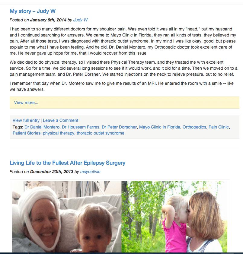 Sharing Mayo Clinic