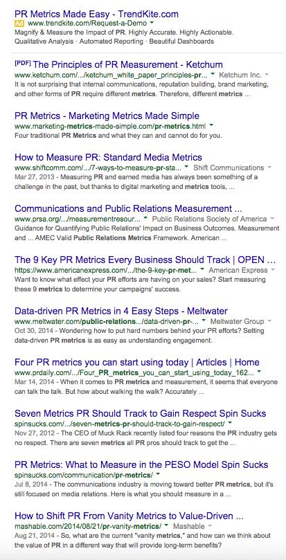 PR Metrics Personalized