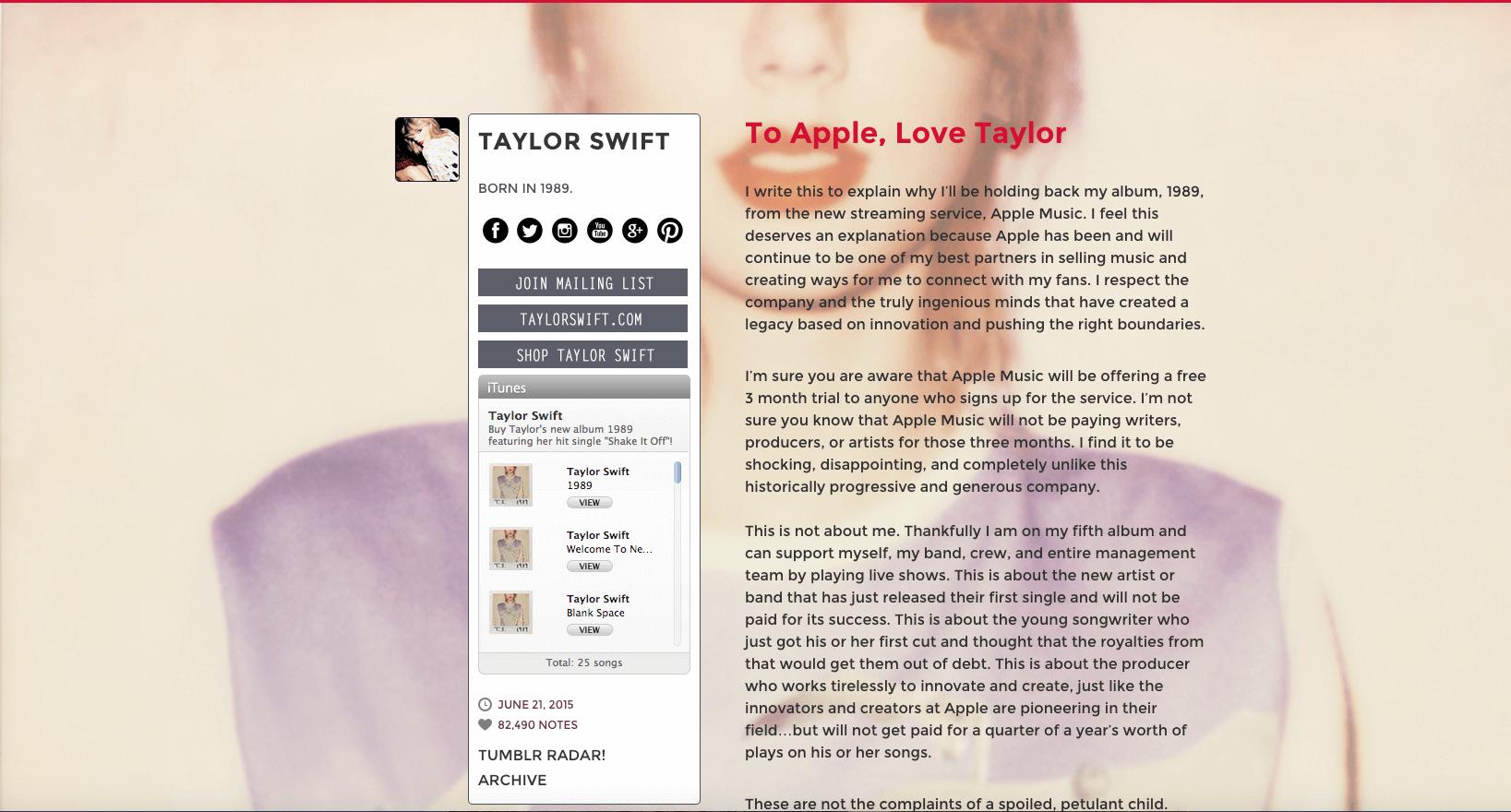 To Taylor Swift, Love Spin Sucks