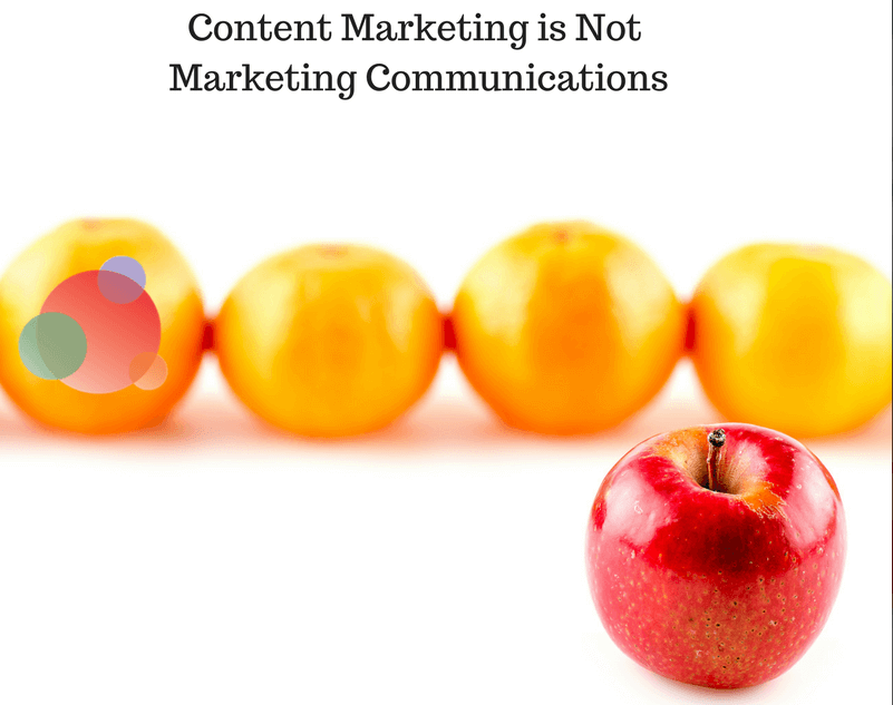 Content Marketing is Not MarComm