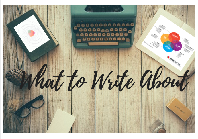 Six Things to Write About When You Don't Know What to Write About