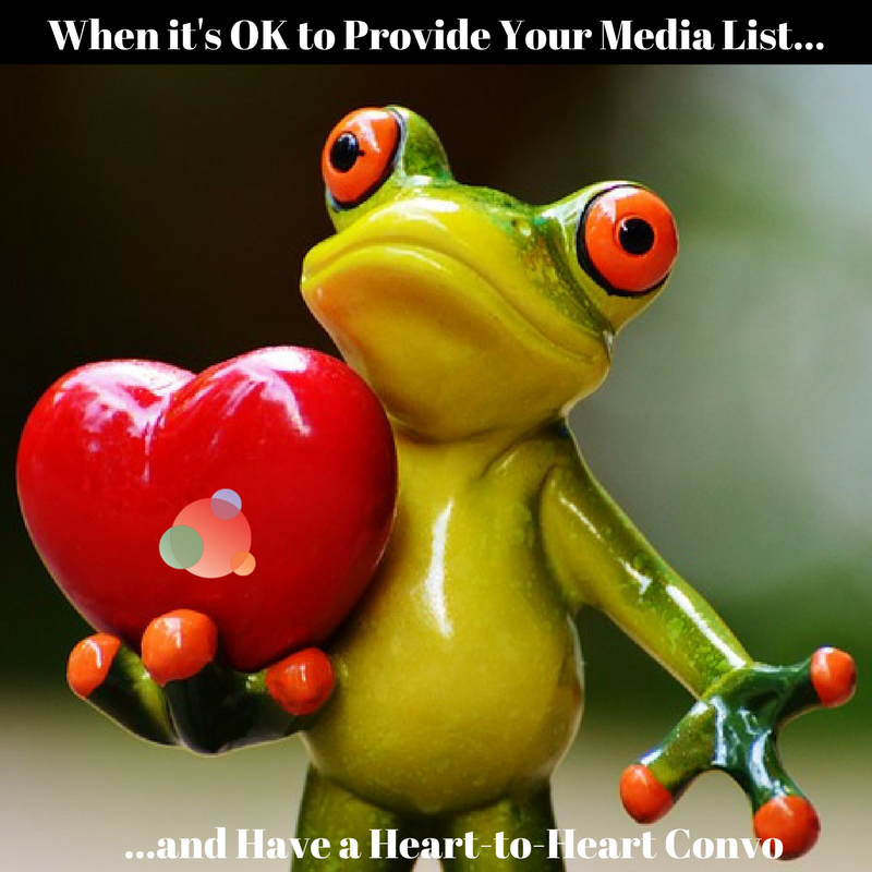 When it's OK to Provide Your Media List to the Client