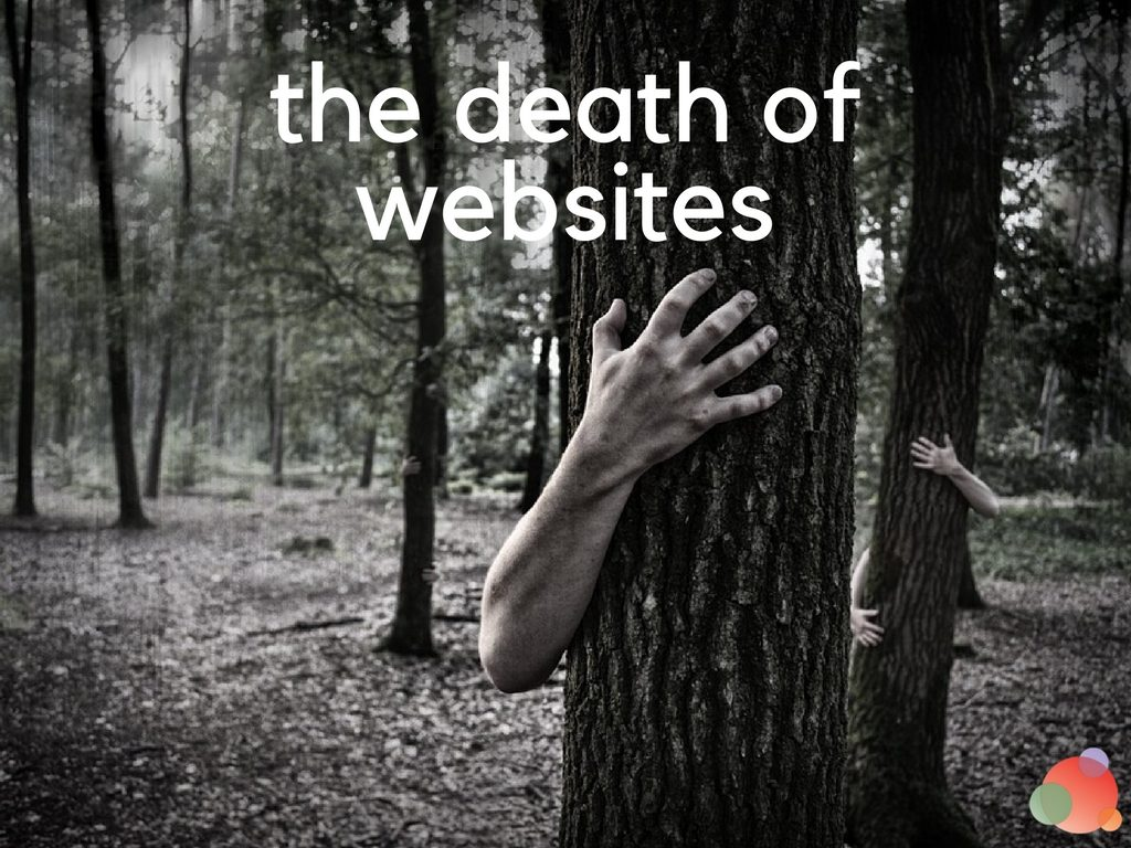 the death of websites