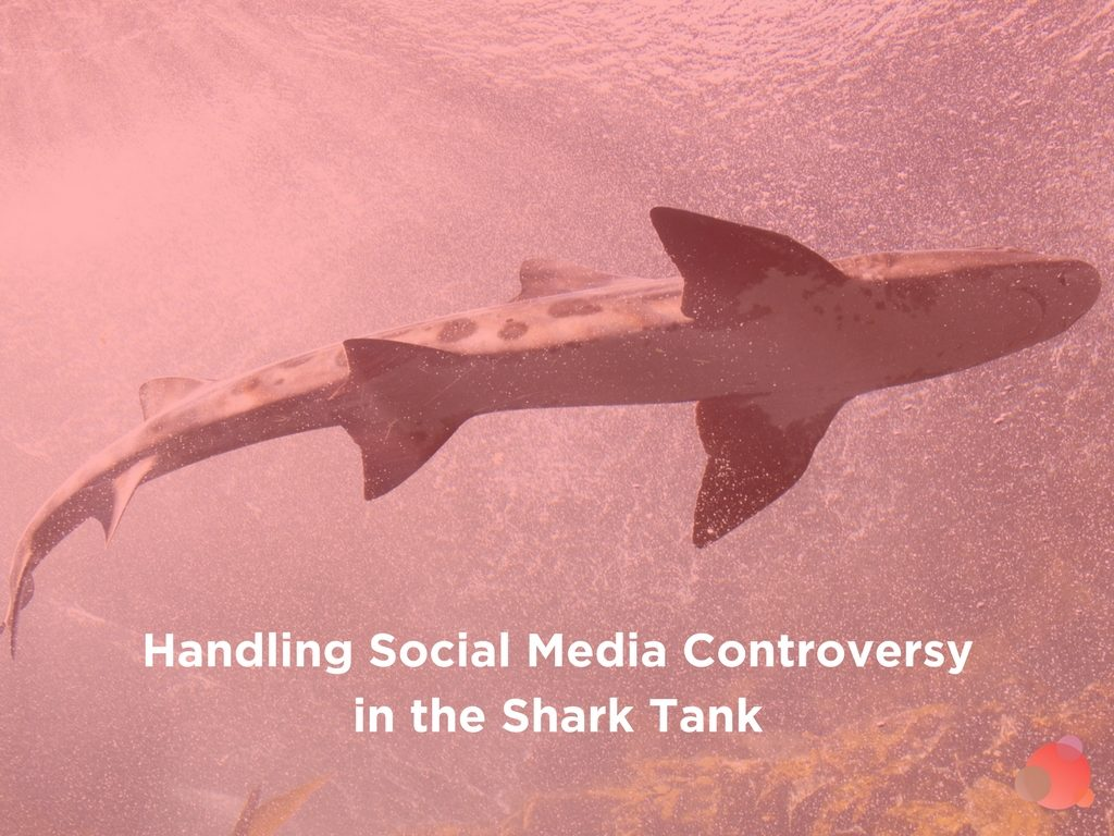 Handling Social Media Controversy in the Shark Tank