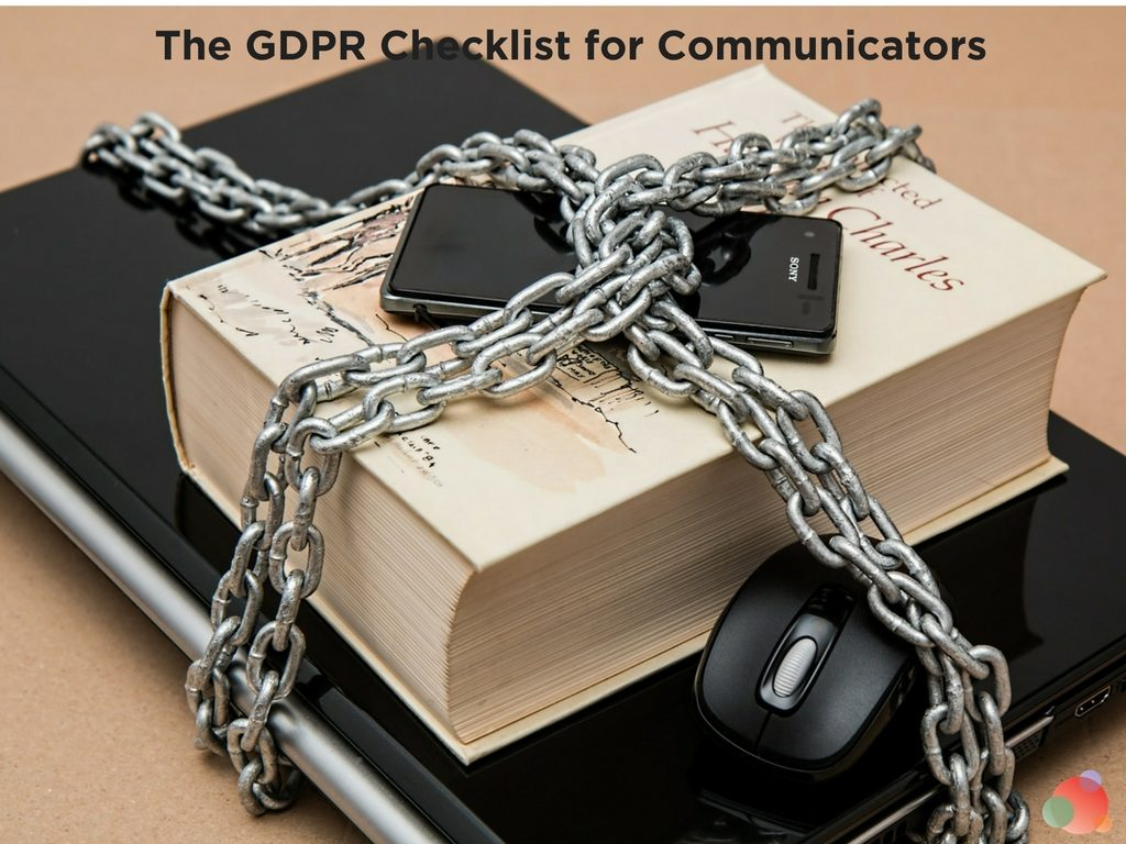 The GDPR Checklist for Communicators
