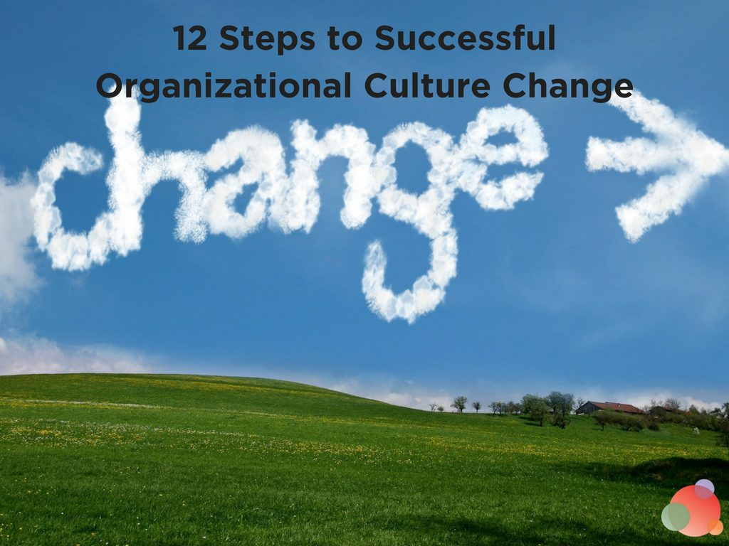 12 Steps to Successful Organizational Culture Change