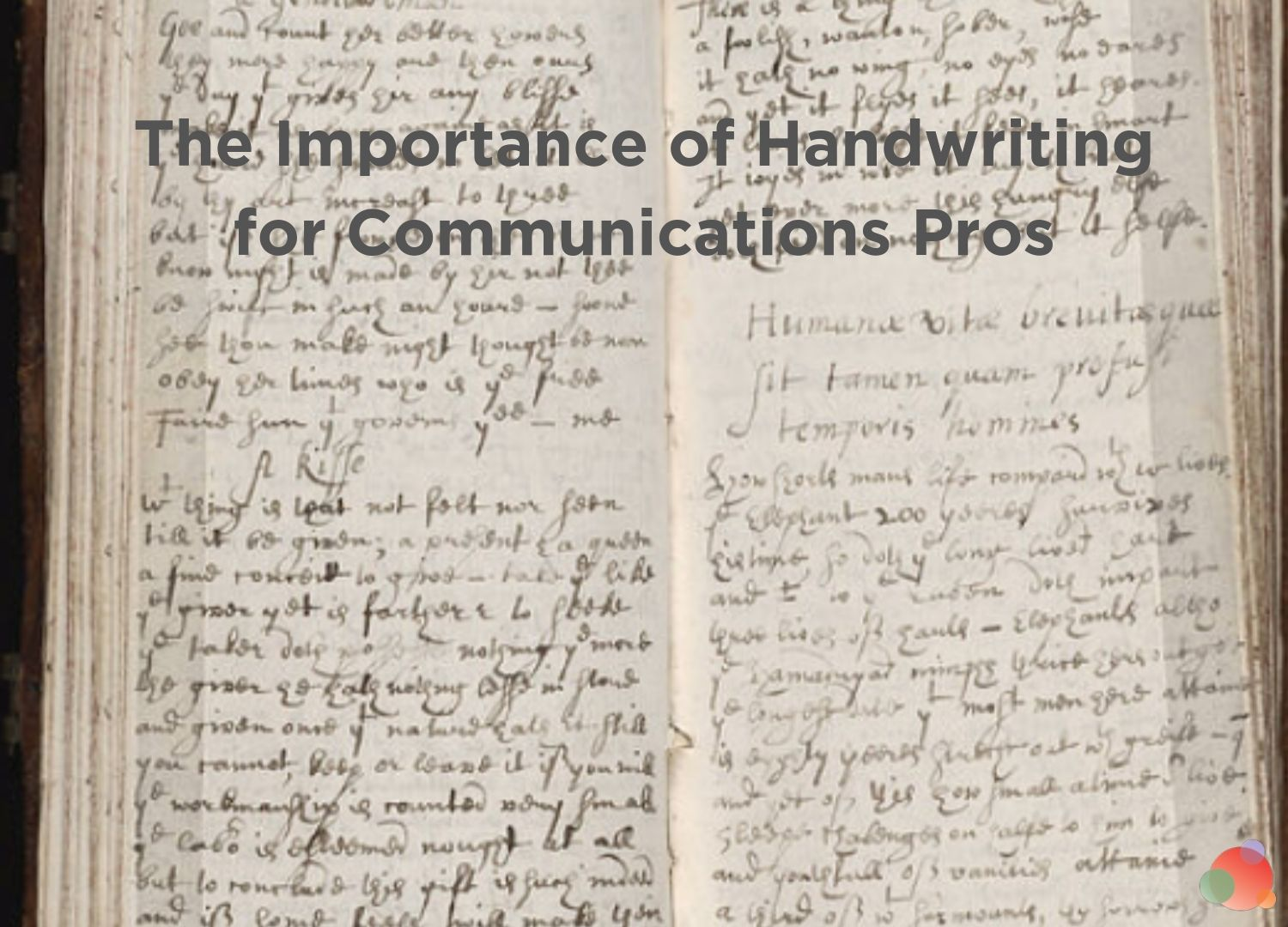 The Importance of Handwriting for Communications Pros