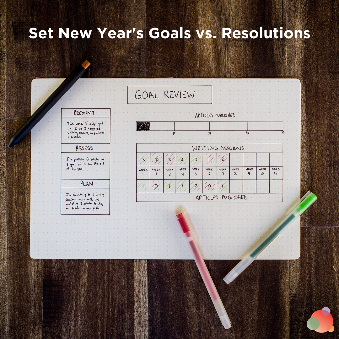 Set New Year's Goals vs. Resolutions